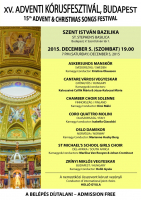 15th Advent & Christmas Songs Festival